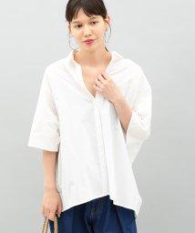 ADAM ET ROPE'/バックオープンカラーシャツ2/500425785