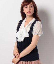 axes femme/刺繍ボータイブロッキングPO/500418659