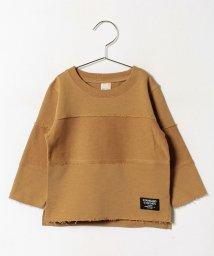 petit main/無地ボーダー切り替えミニ裏毛Tシャツ/500419929