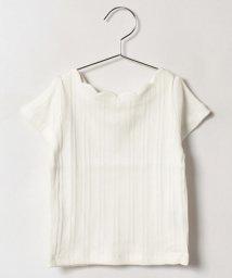 petit main/スカラップネックリブTシャツ/500419935