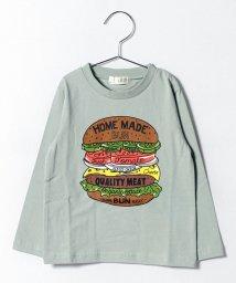 b-ROOM/ハンバーガープリントTシャツ/500419944