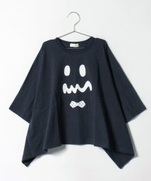 b-ROOM/フェイスプリント変形Tシャツ/500419945