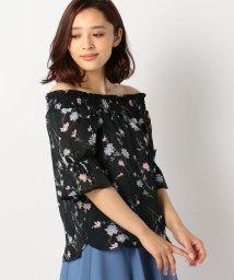 MISCH MASCH/花柄シャーリングブラウス/500431114