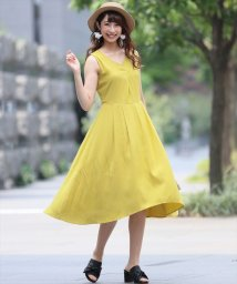 clear/ノースリーブマキシ丈ワンピース/500431692