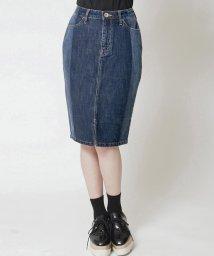 QUEENS COURT/【大きいサイズ】【洗濯機で洗える】デニムタイトスカート/500433300