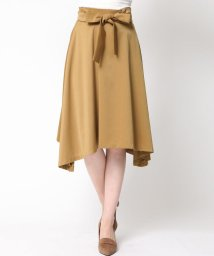 QUEENS COURT/【大きいサイズ】ヴィーナススエードイレギュラーヘムスカート/500433302