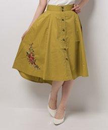 axes femme/刺繍入りカラースカート/500432534