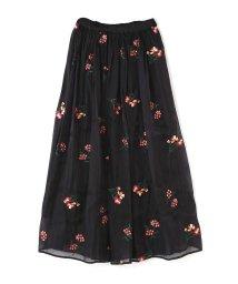 ROSE BUD/フラワー刺繍スカート/500434652