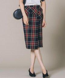 JIYU-KU /【肌に優しい・洗える】T/R2wayアルガンオイルチェック スカート/500435786