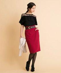 31 Sons de mode/【andGIRL9月号掲載/Ray9月号掲載】ベルト付きタイトスカート/500435407