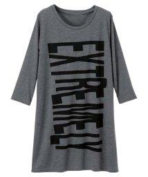 Ranan/ロング丈プリントゆるTシャツ/500427422