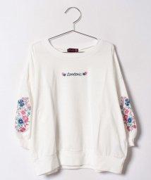 Lovetoxic/フラワーロゴ刺しゅう入りTシャツ/500430640