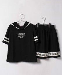 Lovetoxic/フードつき裏毛Tシャツ&スカートセットアップ/500430641