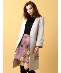 MIIA/パーツファー刺繍コート/500429162