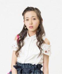 ALGY/フラワー刺繍肩あきシャツ/500441434