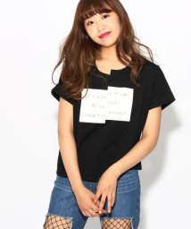 PINK-latte/◆【WEB限定】メッセージ切り替えTシャツ/500443033