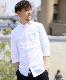 GIORDANOM/ライオン刺繍ブロッキングシャツ/500439547
