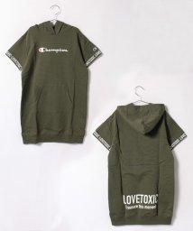 Lovetoxic/チャンピオン半袖パーカワンピース/500439709