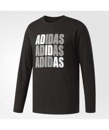 adidas/アディダス/メンズ/HM ロゴグラフィックロングスリーブTシャツ M/500445388
