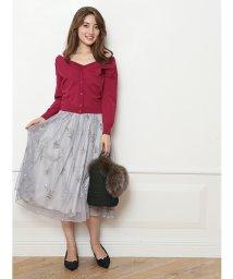 JUSGLITTY/チュール刺繍スカート/500447732