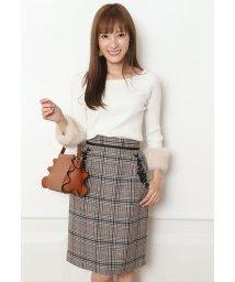 Apuweiser-riche/ポケット刺繍チェックタイトスカート/500450132
