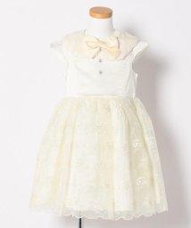 anyFAM(KIDS)/【KIDS】ポリエステルサテン+刺繍入りオーガンジー ドレスワンピース/500450472