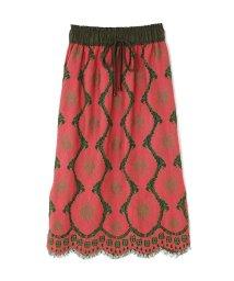 ROSE BUD/レース刺繍マキシスカート/500452844