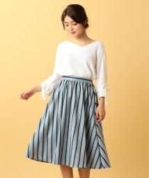 MIIA/マルチストライプギャザースカート/500453075