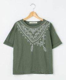 framesRayCassin/スカーフ刺繍ターンバックTシャツ/500454274