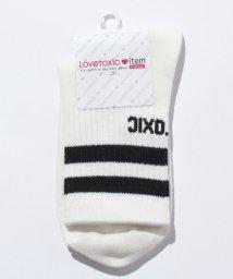Lovetoxic/配色ラインクルーソックス/500447697