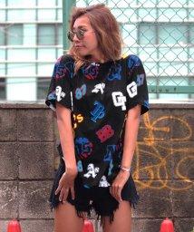 ANAP/ワッペン総柄Tシャツ/500451332