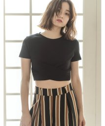 Re:EDIT/フロントクロス短丈Tシャツ/500446178