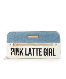 PINK-latte/ハートフープロゴ長財布/500467844