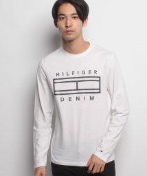 HILFIGER DENIM/ロゴコットンロングスリーブカットソー/500457687