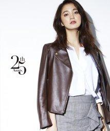 NIJYUSANKU(LARGE SIZE)/【25周年アイテム】シープレザー ライダースジャケット/500471736