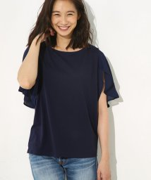AZUL by moussy/異素材ラッフルスリーブ半袖プルオーバー/500450077