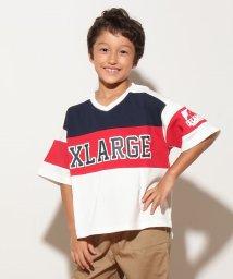 XLARGE KIDS/パネルボーダー浅V ロゴ 7ST/500459123