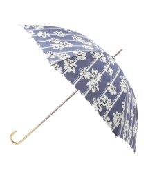 grove/ストライプフラワー長傘(晴雨兼用)/500472632