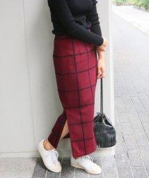 IENA/《予約》チェックカラータイトスカート◆/500473587