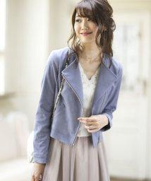 PROPORTION BODY DRESSING/【MAGASEEK/d fashion限定】フェイクスエードライダースブルゾン/500435974
