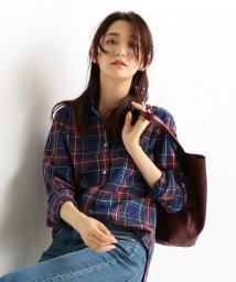NIJYUSANKU/【洗える!】Canclini ミックスプラットネル チェックシャツ/500477743