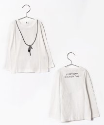 JEANS‐b/featherロングTシャツ/500458190
