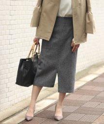 NOBLE/ウールカルゼフロントスライドタイトスカート/500481935