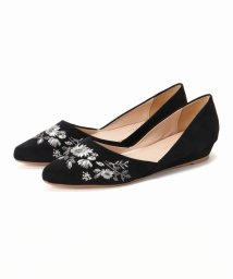 ivory court/EMBROIDERY POINTED FLAT SHOES/500484503