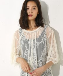 AZUL by moussy/レース半袖プルオーバー/500468398