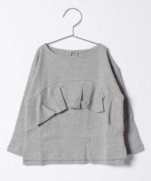 b-ROOM/胸フリルつきTシャツ/500470774