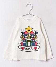 X-girl Stages/キラッキー&キャッスル 長袖Tシャツ/500470909