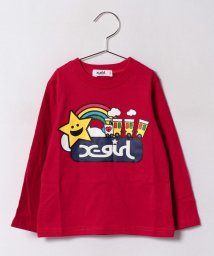 X-girl Stages/キラッキー&トレイン 長袖Tシャツ/500470910