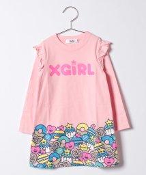 X-girl Stages/ロゴ&スウィーツ フリルワンピース/500470919