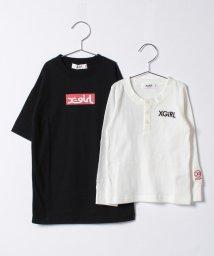 X-girl Stages/ボックスロゴ 半袖Tワンピース&長袖Tシャツセット/500470920